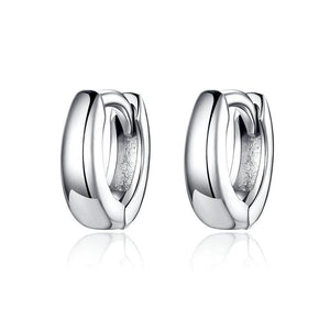 925 Sterling Silver Polishing Tiny Circle Hoop Earrings for Women Men Style Fine Jewelry