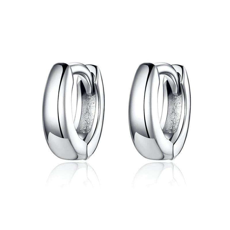 Polishing Tiny Circle Hoop Earrings For Women - 925 Sterling Silver