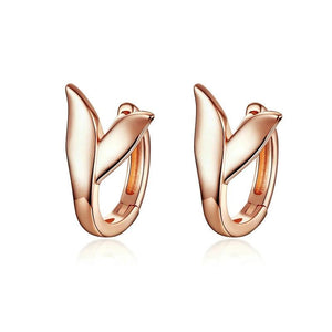 Dolphin Tail Small Hoops Earrings - Silver 925