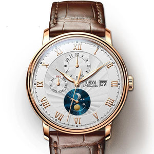 Seagull Movement Watch Men Automatic Mechanical Men Watches Switzerland Leather Male Skeleton