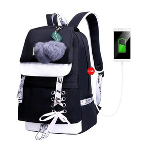 Waterproof School Backpack With Outer Pocket With Connection,USB Port - GiftWorldStyle - Luxury Jewelry and Accessories