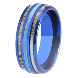 Women's Colorful Tungsten Carbide-Turquoise Ring