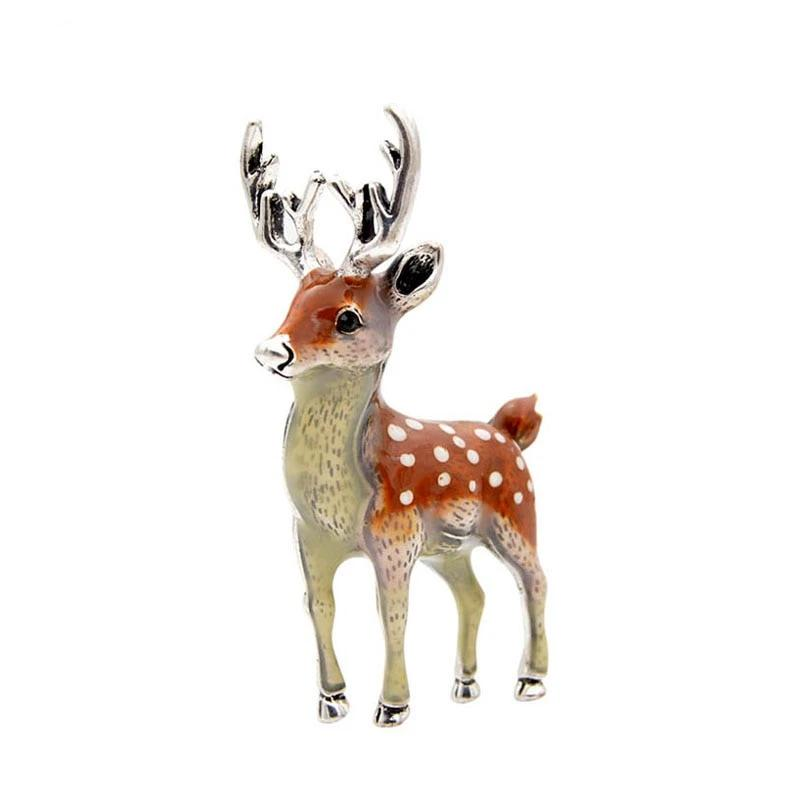 Cute Small Bucks Deer Animal Brooch Pin