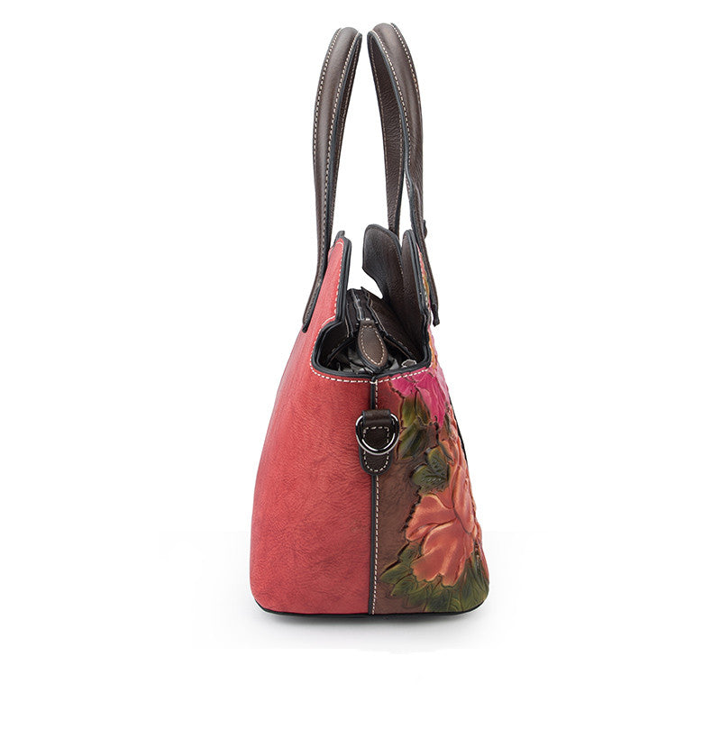 Leather Handbags With Colorful Flowers - GiftWorldStyle - Luxury Jewelry and Accessories