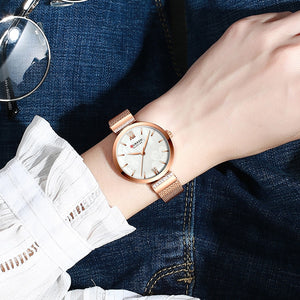 Women's Quartz Watch With Stainless Steel And Hook Buckle, Clover - GiftWorldStyle - Luxury Jewelry and Accessories