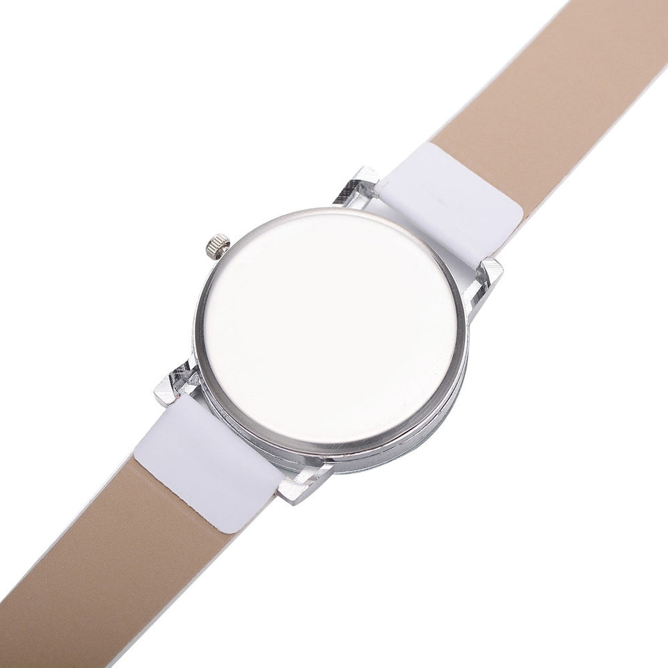 Casual Leather Hook Buckle Band Analog Wrist Watch