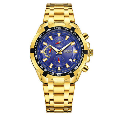 Men's Quartz Stainless Steel Watch With Luminous Hands, Calendar - GiftWorldStyle - Luxury Jewelry and Accessories
