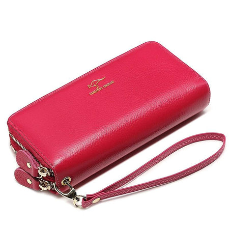 Luxury Women Wallet From Genuine Leather With Double Zipper