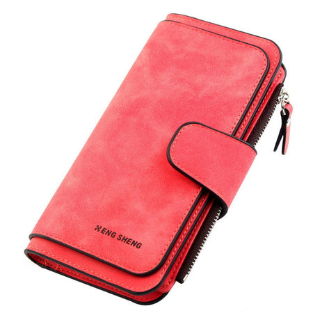 Women  PU Leather Wallets In Long Size With Card Holder,Hasp