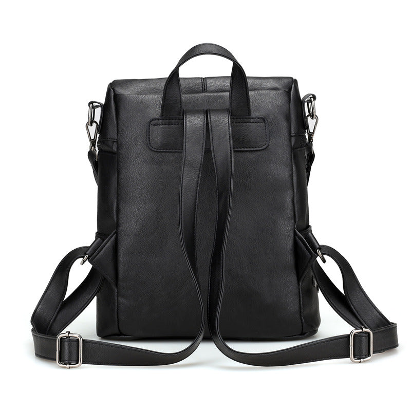 Women's Rivet Leather Backpack