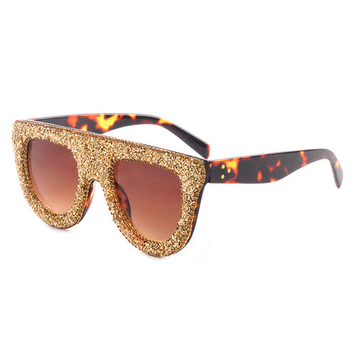 Plastic Shinning Sunglasses Women Bling Lens Glasses Classic Retro Outdoor Travel Sun Glasses UV400
