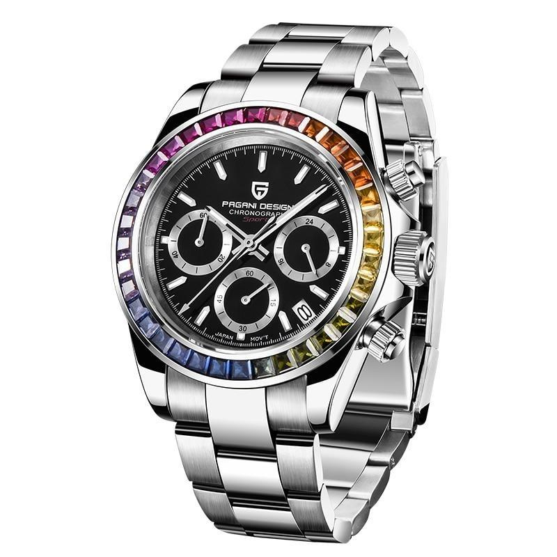 Chronograph Quartz Watch With Chronograph, Auto Date And Luminous Hands - GiftWorldStyle - Luxury Jewelry and Accessories