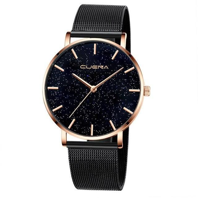 Casual Starry Sky Stainless Steel Analog Quartz Wrist Watch