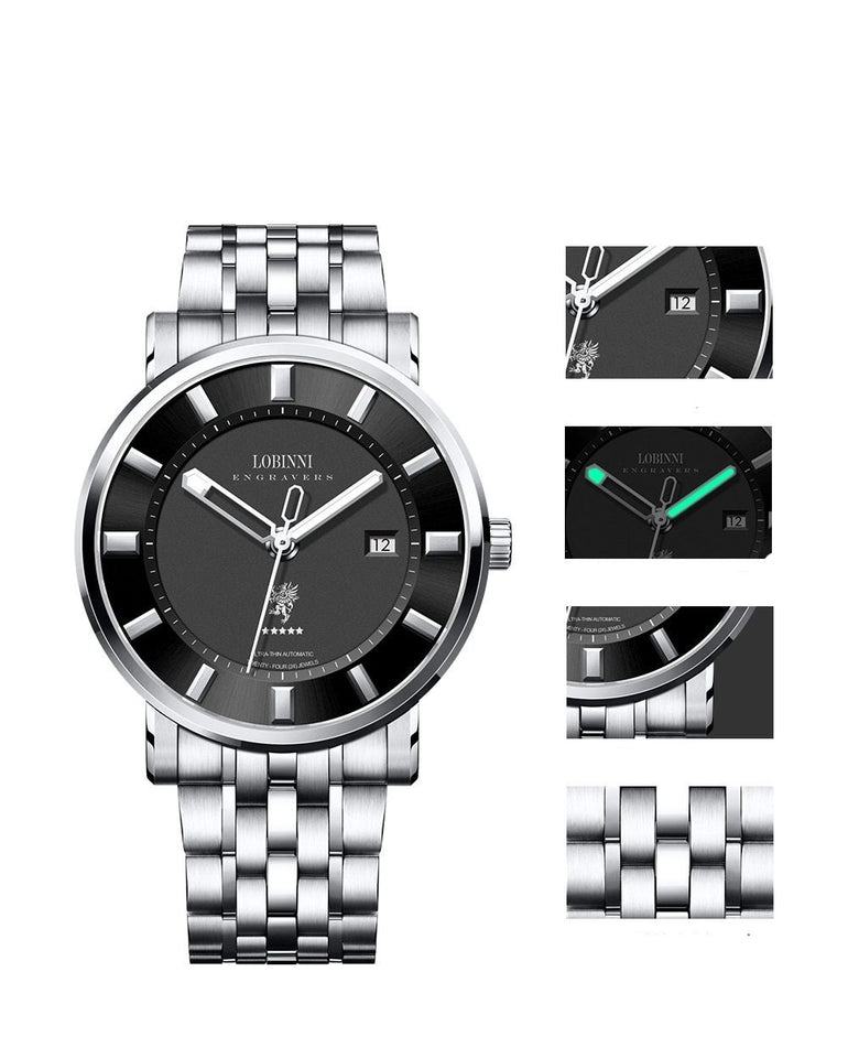 Switzerland Luxury Men Watch with Sapphire - Auto Date - GiftWorldStyle - Luxury Jewelry and Accessories