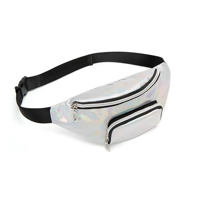 Shine Holographic Waist Bag With Two Pocket - GiftWorldStyle - Luxury Jewelry and Accessories