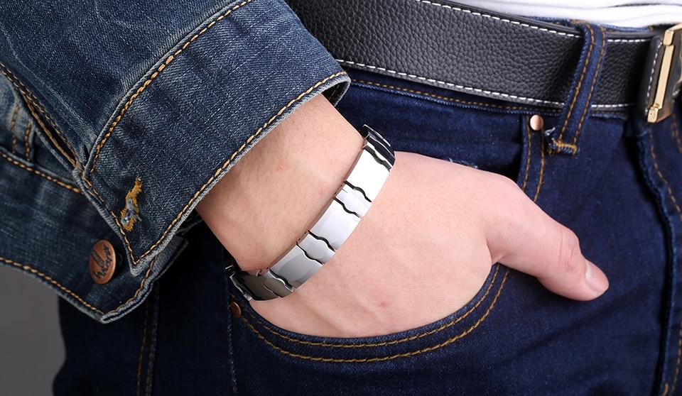5mm Magnetic Health Tungsten Bracelet - GiftWorldStyle - Luxury Jewelry and Accessories