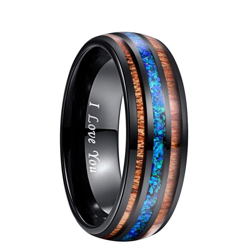 Men's Two-Tone Tungsten Carbide Ring - GiftWorldStyle - Luxury Jewelry and Accessories