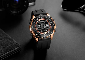 Men's Quartz Watch With Rolling Time Dial , Chronograph - GiftWorldStyle - Luxury Jewelry and Accessories