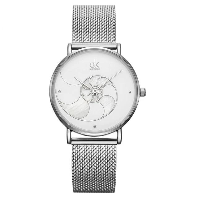 Quartz Waterproof Watch For Lady With Mesh Strap