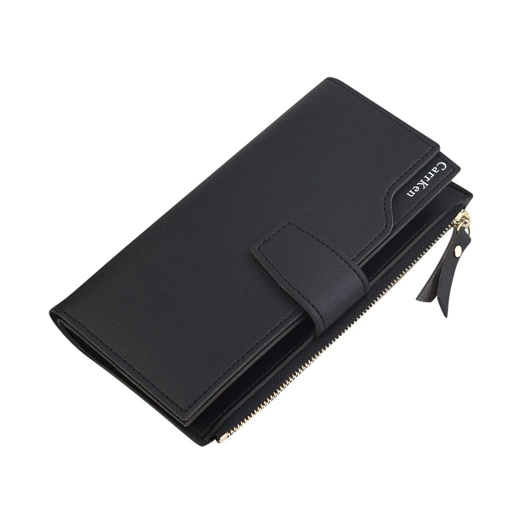 Women's Small Wallet With Zipper And Three-Fold, Card Holder