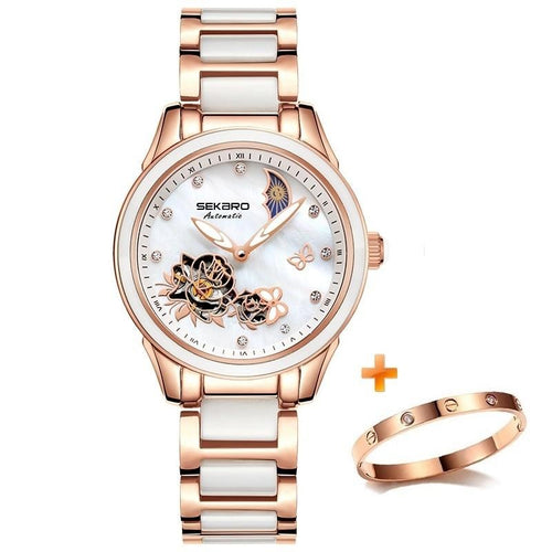 Women's Hollow Crystal Quartz Watch