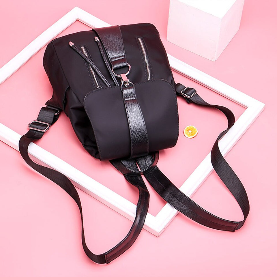 Drawstring Soft Leather Backpack For Women