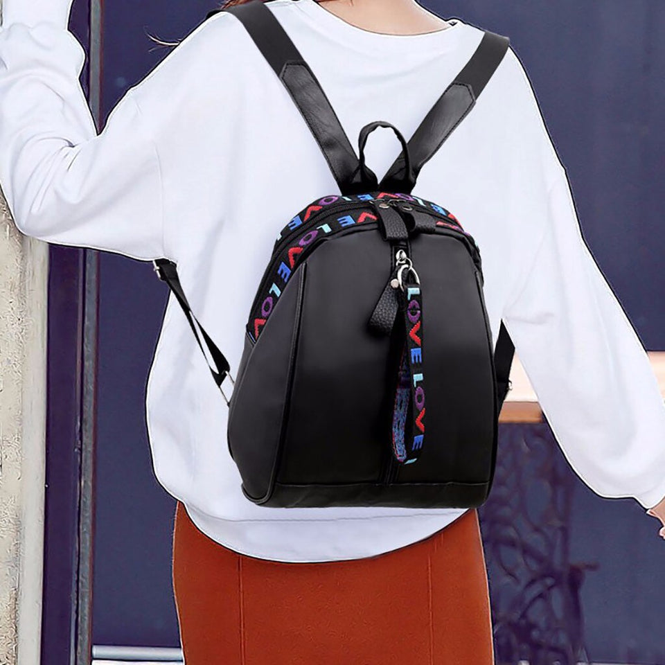 Style Women Solid Zipper Oxford School Backpack Lady Portable Travel Satchel Rucksack Shoulder Bag Tote
