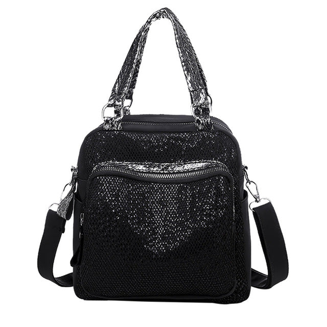 Casual Small Backpack With Bright Sequins
