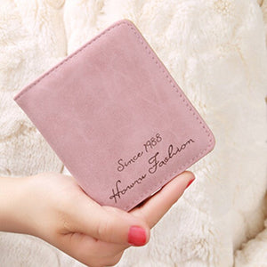 Women's Small Leather Wallet With Vintage Tassel And Slim Phone Purse