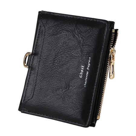 Women Simple Retro Letters Short Wallet Coin Purse ,Card Holders