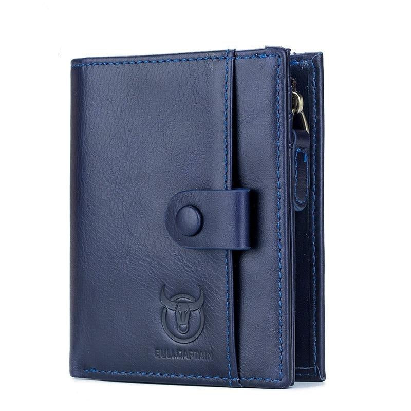 Men's Fashion Embossed Genuine Leather Wallet