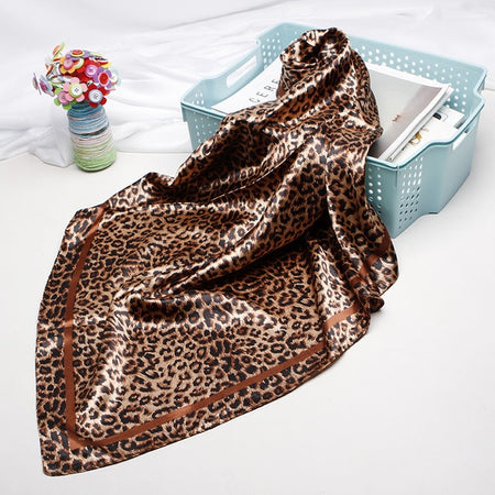 Leopard Scarves For Women From Luxury Silk Satin,Square Shape - GiftWorldStyle - Luxury Jewelry and Accessories