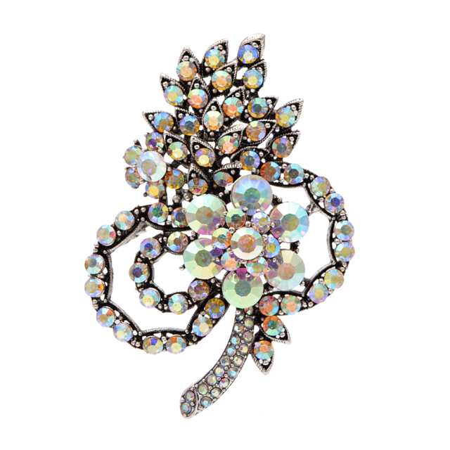 Full Crystal Large Flower Brooches For Women