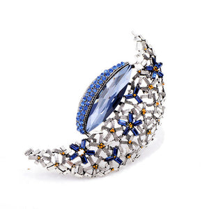 Elegant Large Moon Brooch Pin For Women