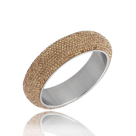 Shining Bangles With White CZ Austrian Crystal - GiftWorldStyle - Luxury Jewelry and Accessories