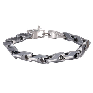 Silver Tungsten Bracelet For Men - GiftWorldStyle - Luxury Jewelry and Accessories