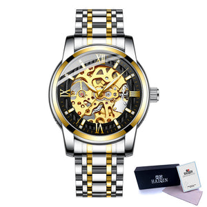 Men Watch Mechanical Gold Watch Military Waterproof Self-Winding Clock Men Wristwatch