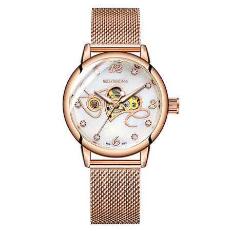 Women's Skeleton Stainless Steel Watch