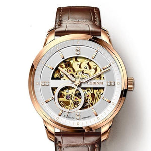 Movement Watch Men Automatic Mechanical Watch Transparent Skeleton Men Watch Seagull