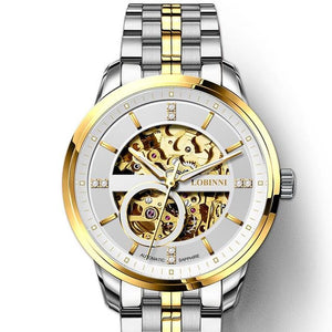 Automatic Mechanical Movement Transparent Skeleton Watch