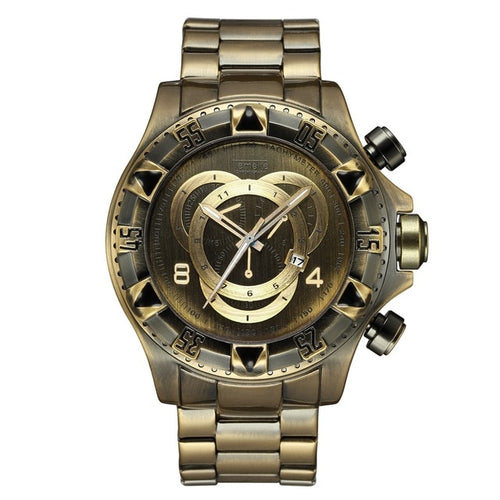 Retro Quartz Watch With Waterproof Stainless Steel, Luminous Hands - GiftWorldStyle - Luxury Jewelry and Accessories
