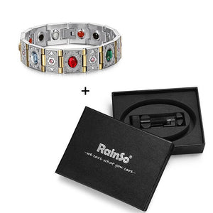 Bio Energy Magnetic Stainless Steel Bracelet - GiftWorldStyle - Luxury Jewelry and Accessories