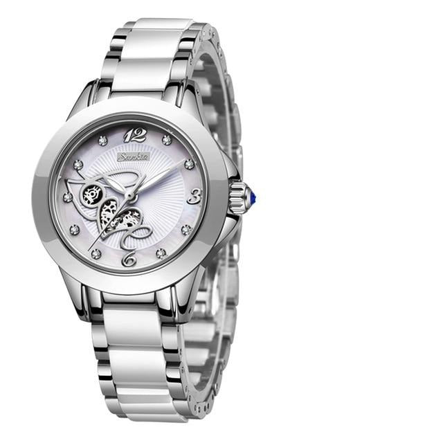 ''Love'' – Women's Stainless Steel Skeleton Watch