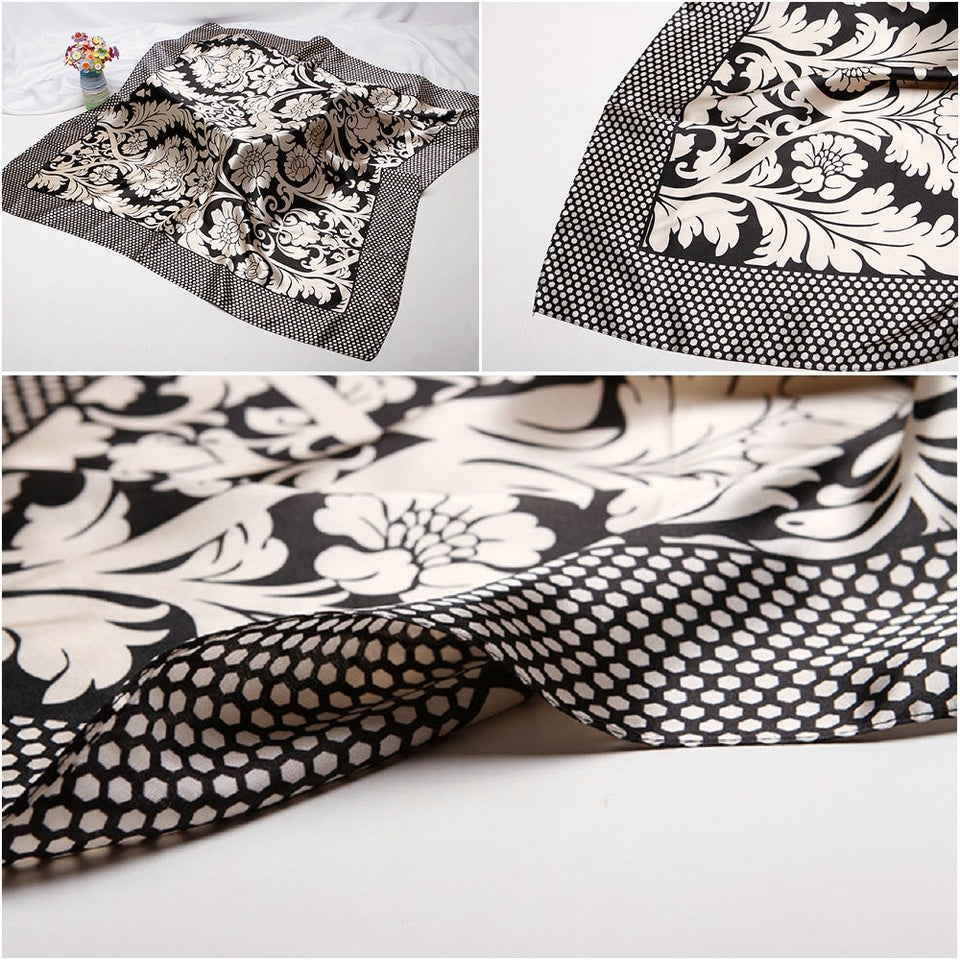 Hair Silk Scarf With Fashion Figure In Square,90cm*90cm - GiftWorldStyle - Luxury Jewelry and Accessories