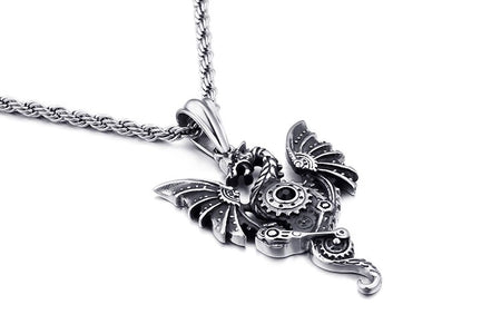 Pterosaur Dragon With Wings Necklace - GiftWorldStyle - Luxury Jewelry and Accessories