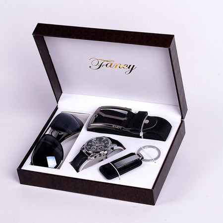 Men's Aviator Sunglasses, Belt, Keychain and Watch Set - GiftWorldStyle - Luxury Jewelry and Accessories