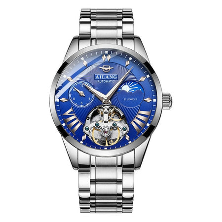 Transparent Tourbillon Watch With Automatic Swiss Mechanical