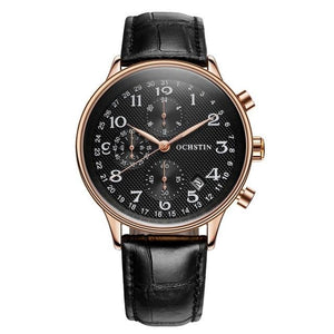Chronograph Quartz Men Watch With Auto Date And Complete Calendar - GiftWorldStyle - Luxury Jewelry and Accessories