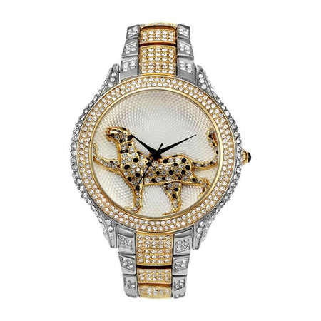 Women's Leopard Diamond Stainless Steel Watch