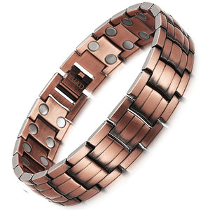 Men's Magnet Energy Bracelet For Bio Energy With Copper 2 Row Chain - GiftWorldStyle - Luxury Jewelry and Accessories